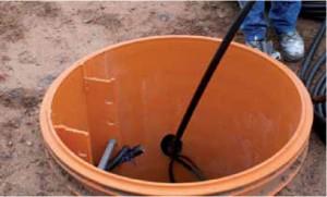 Etap 3. Wprowadzenie rury wewnętrznej sondy do wcześniej przygotowanej rury zewnętrznej.